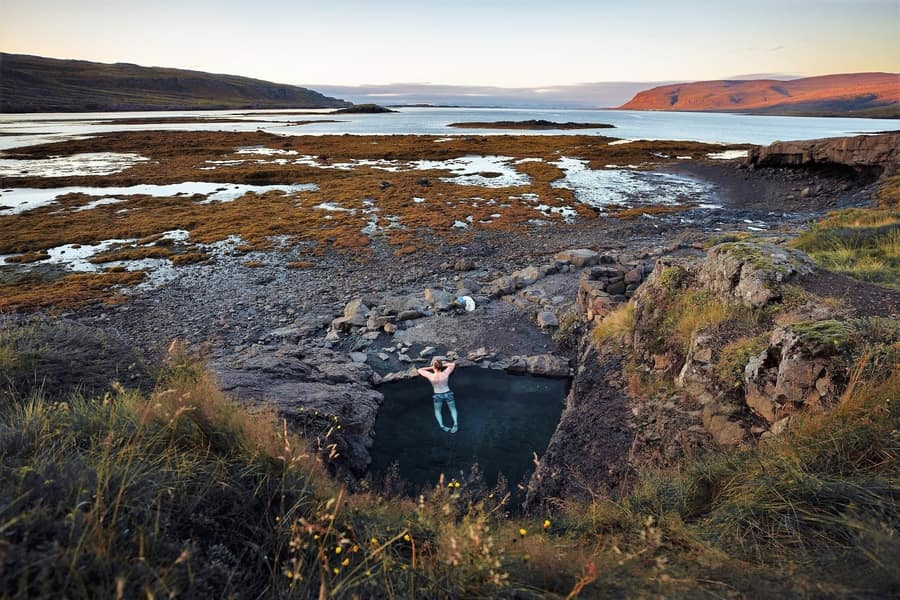 Hellulaug, the hot springs in Iceland