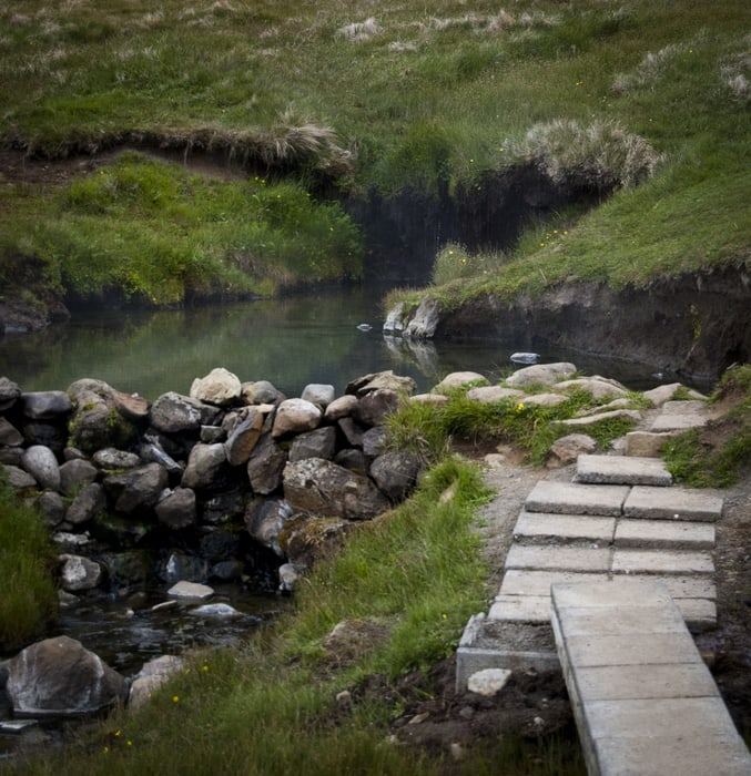 Reykjafjarðarlaug Hot Pot, free hot springs Iceland