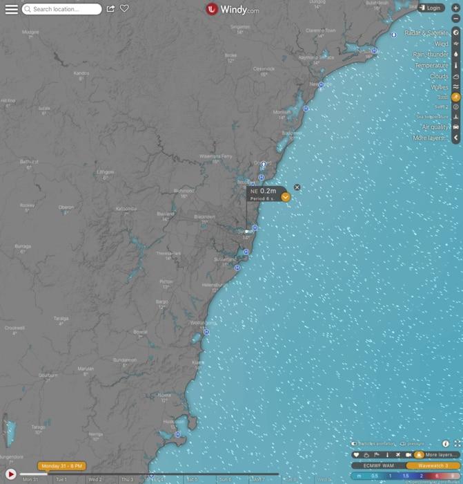 windy seascape forecast