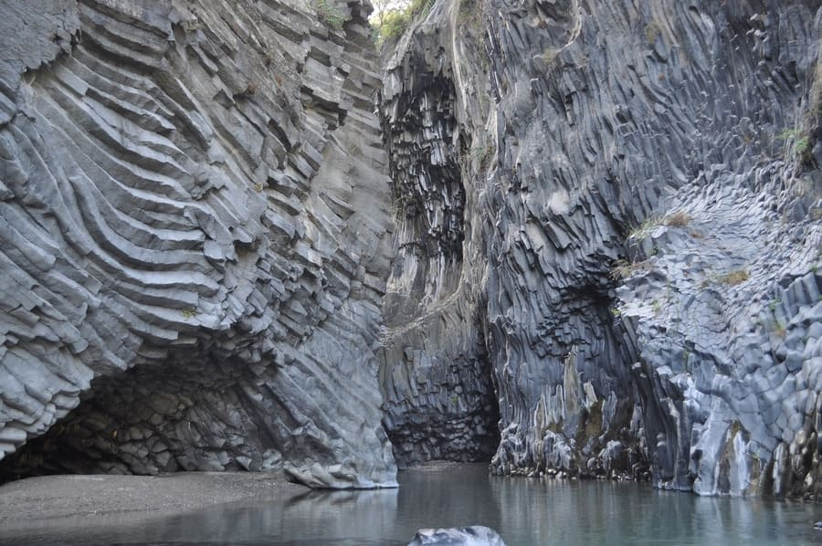 The Alcantara Gorge, must visit places in Sicily