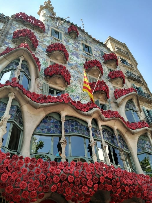 Casa Batlló, sightseeing in Barcelona spain