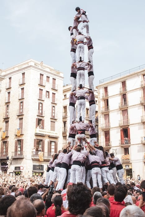 See Castells, fun things to do in Barcelona