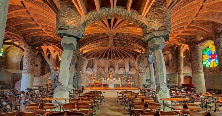 Church of Colònia Güell, Barcelona sites