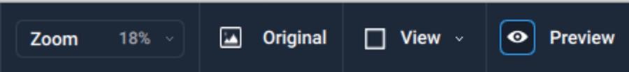 Gigapixel AI menu bar