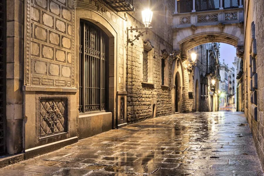 The Gothic Quarter, places of interest in Barcelona