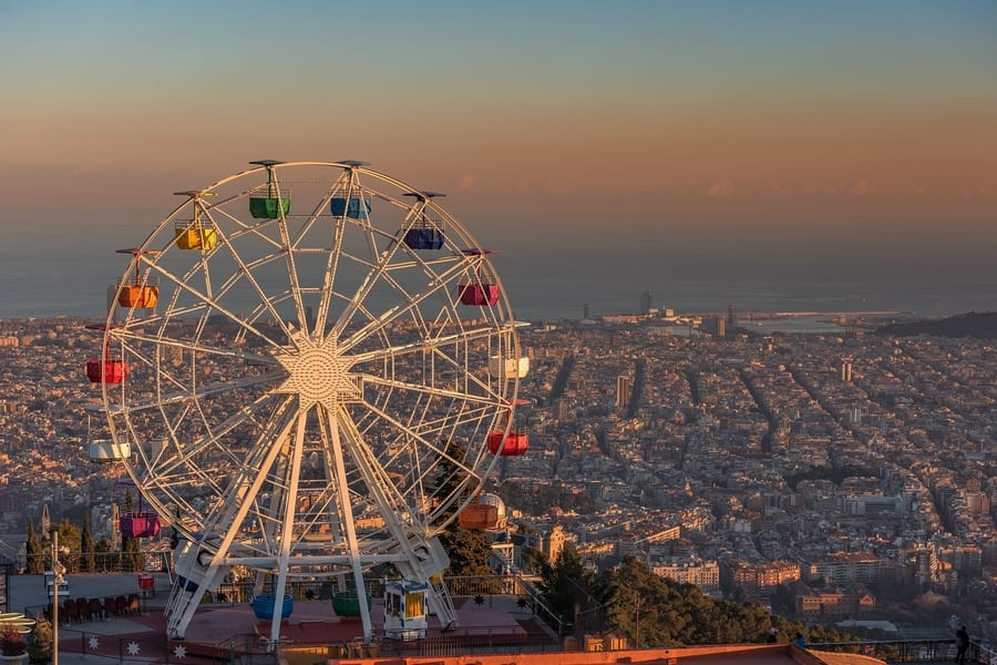 Tibidabo, things to do in Barcelona for families