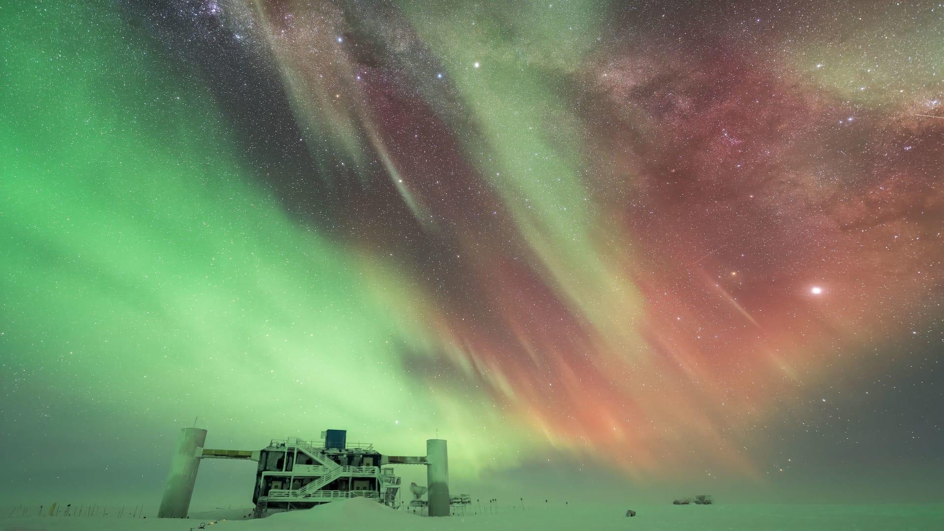 Aurora Australis en la Antártidda