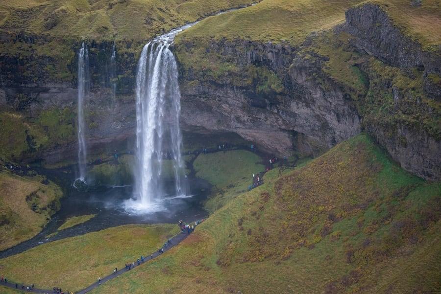 Costa sur de Islandia y vuelos turísticos en Islandia