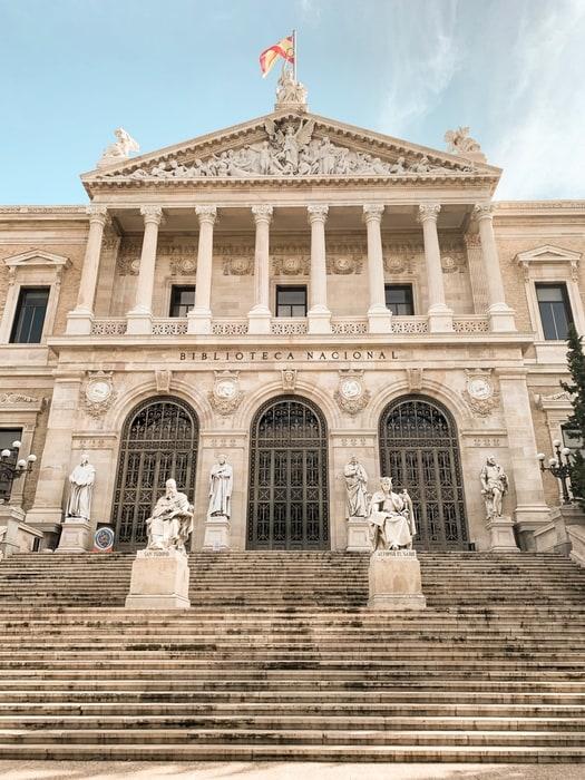Biblioteca Nacional de España, sitios turísticos de Madrid, España