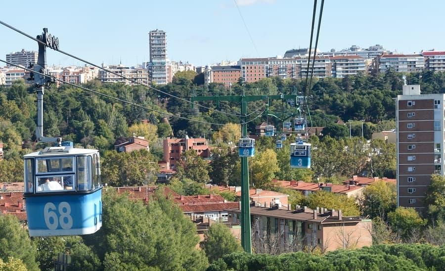Subir al teleférico de la Casa de Campo, Madrid cosas para visitar