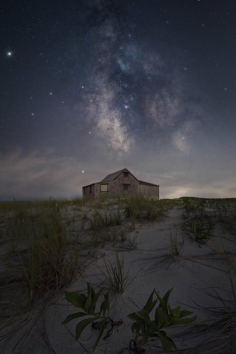 Cómo fotografiar la vía Láctea con contaminación lumínica