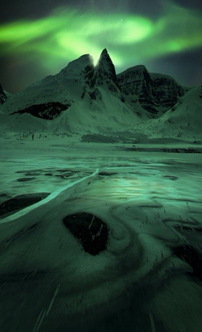 Northern Lights image over Yukon