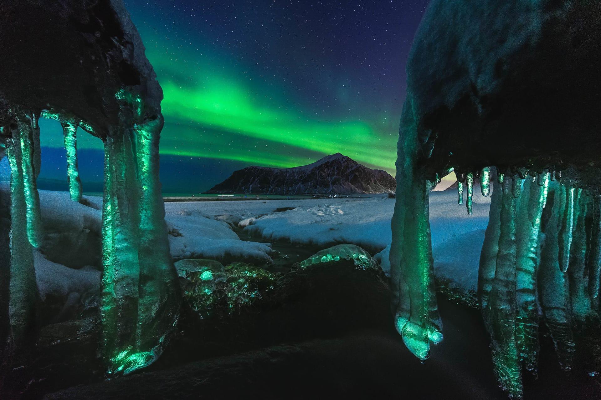 Fotografía Auroras Boreales Islas Lofoten