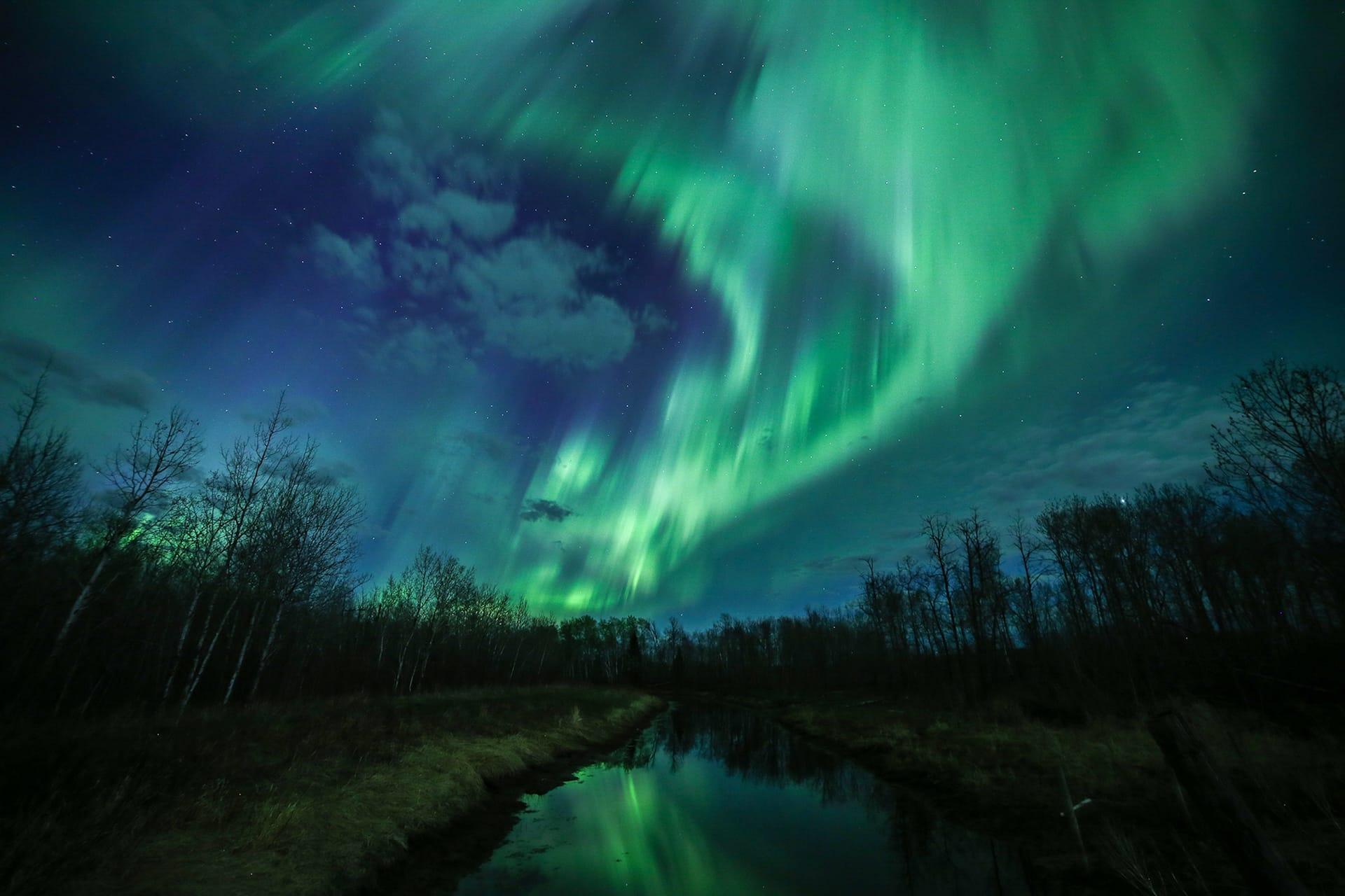 Aurora Boreal en Saskatchewan Canada