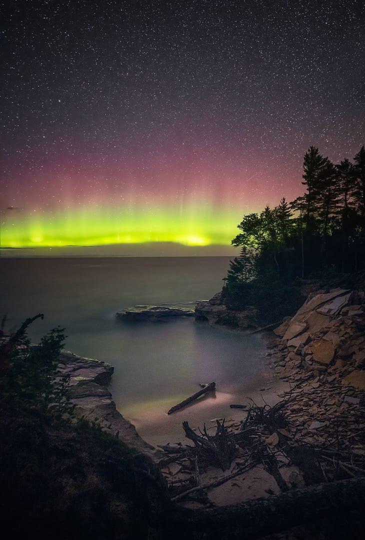 Aurora Boreal en Michigan, USA