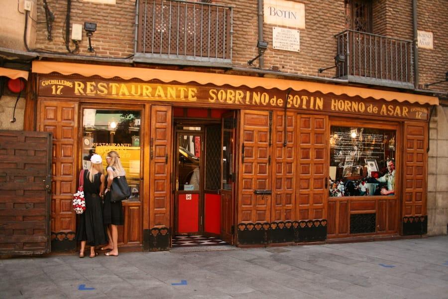 Restaurante Sobrino de Botín, lugares para visitar en España Madrid
