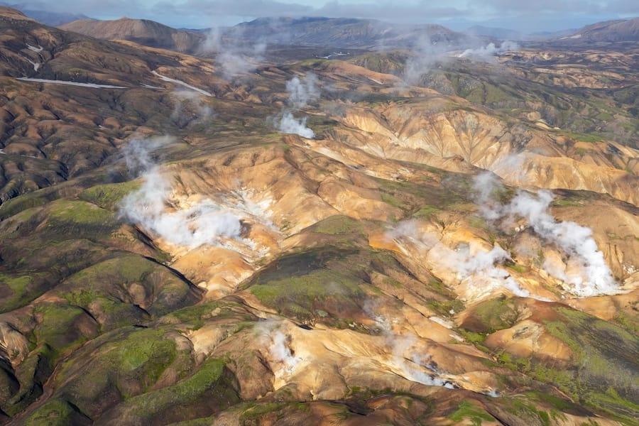 Tour en helicóptero por Islandia
