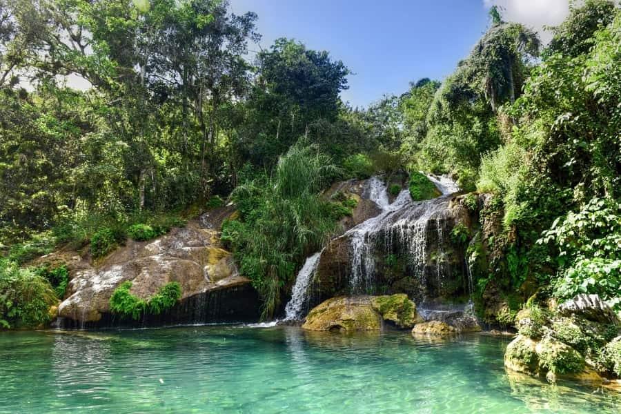 El Nicho waterfalls, points of interest in Cuba