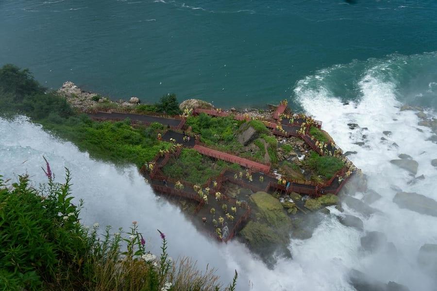 Luna Island and the Bridal Veil Falls, what to do in Niagara Falls NY