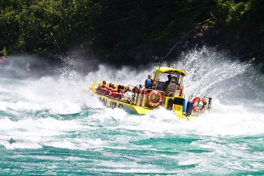 Whirlpool Jet Boat tour, things to do on US side of Niagara Falls