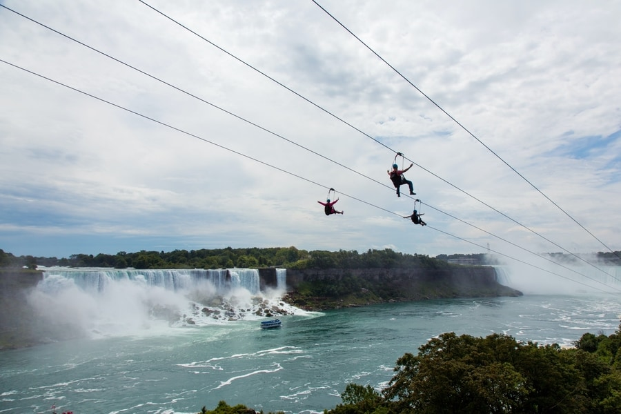 Zipline To The Falls, Niagara Falls zipline