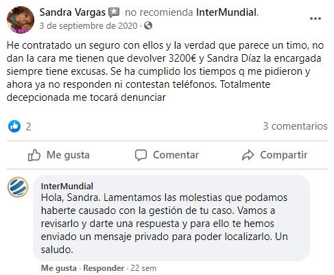 Opiniones Intermundial seguro viaje