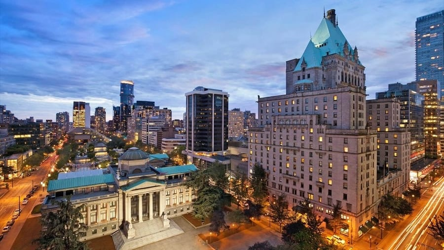 Fairmont Hotel, 24 hours in Vancouver