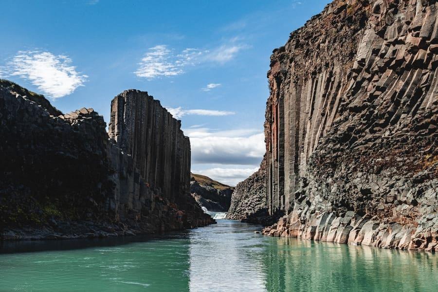 Stuðlagil Canyon, Iceland hiking trails