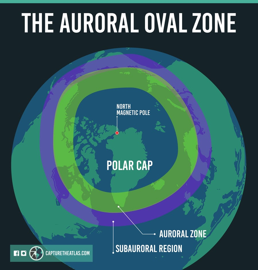 The Auroral Oval Zone