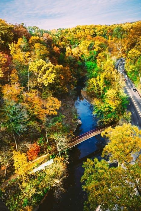 Wissahickon Valley Park, un sitio donde hacer caminatas en Filadelfia