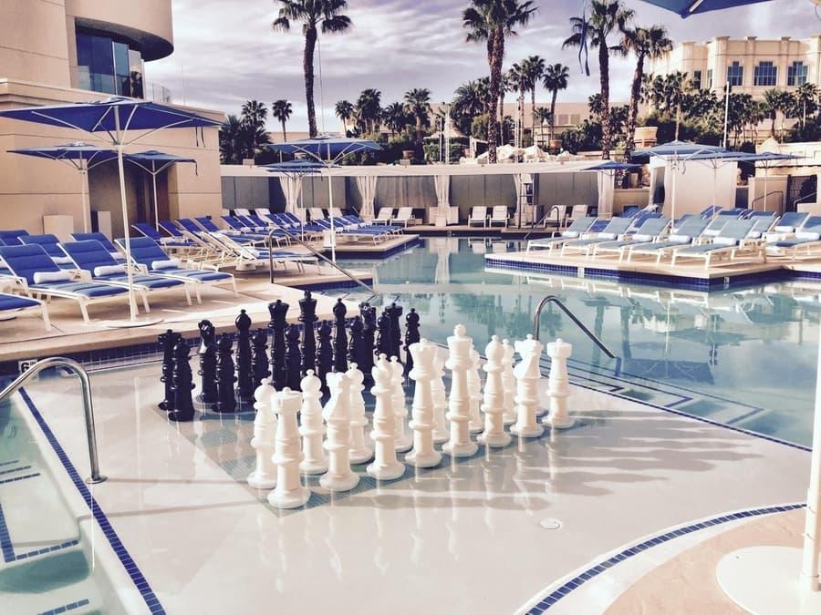 Delano Beach Club at Delano Las Vegas, best swimming pools in las vegas