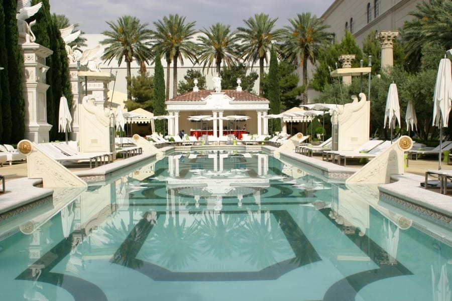 Garden of the Gods at Caesars Palace, hotels with the best pools in las vegas