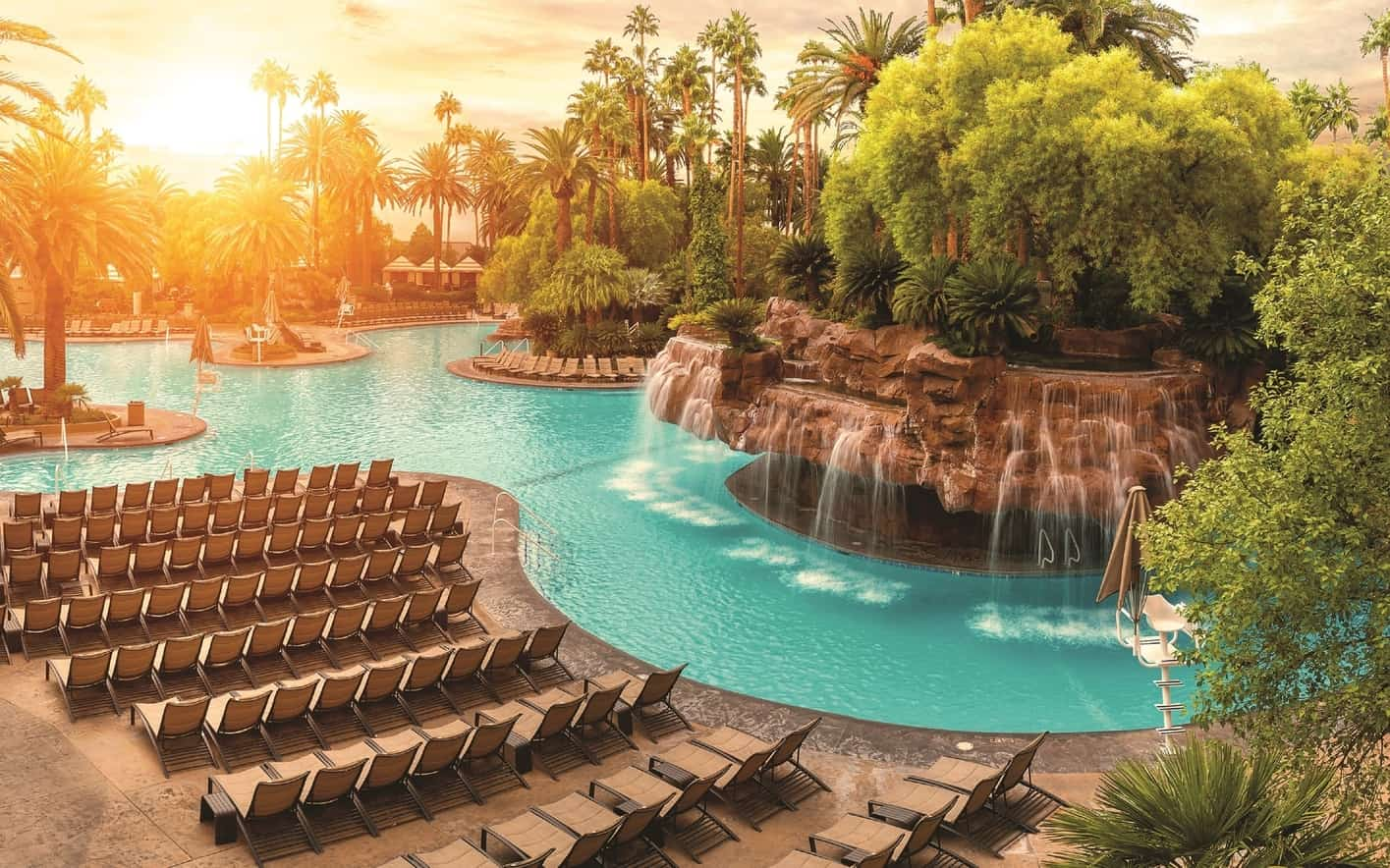 The Mirage Pool at The Mirage, best pools in las vegas