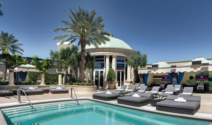 The Palazzo Pool Deck at The Palazzo, best swimming pools in las vegas
