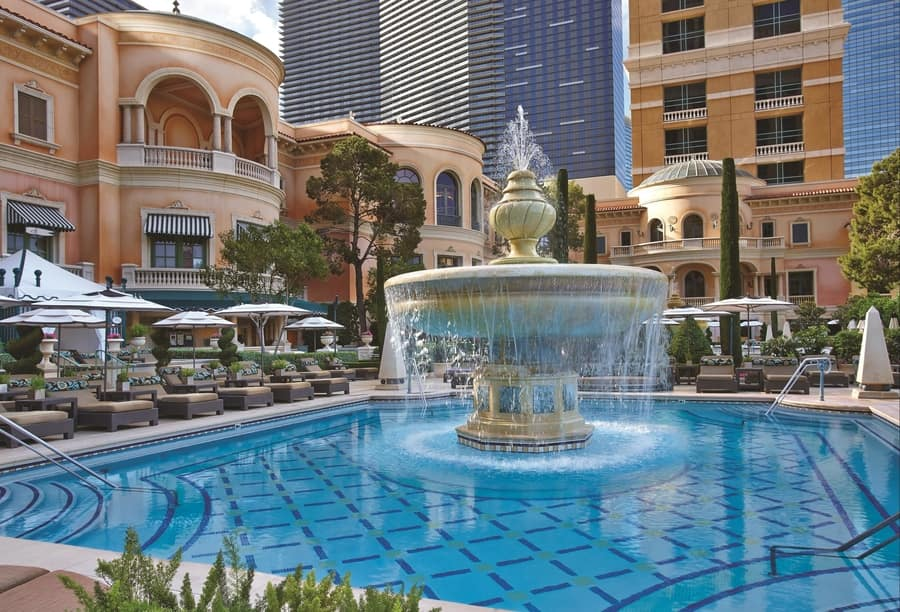 The Pool at Bellagio, best pool in vegas for adults
