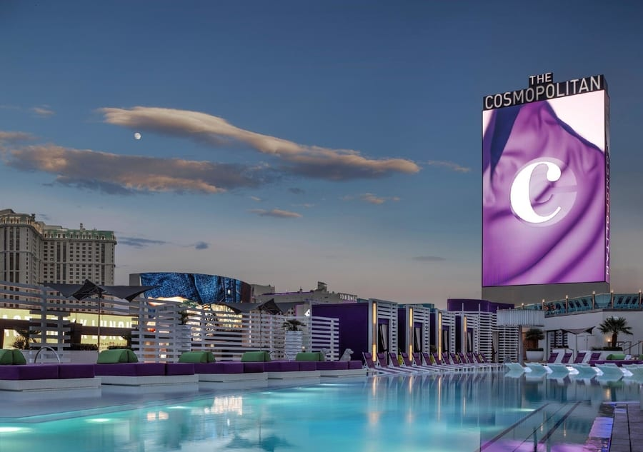 Pool District at The Cosmopolitan, best pool in vegas for adults
