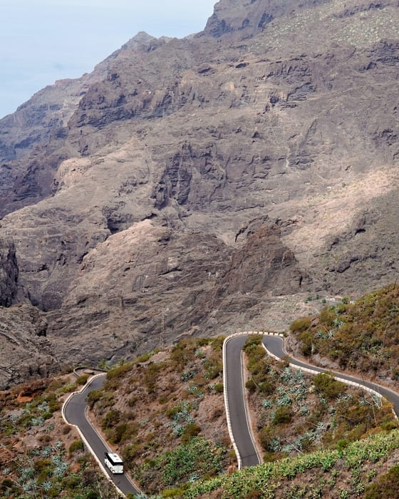 Masca Tenerife carretera
