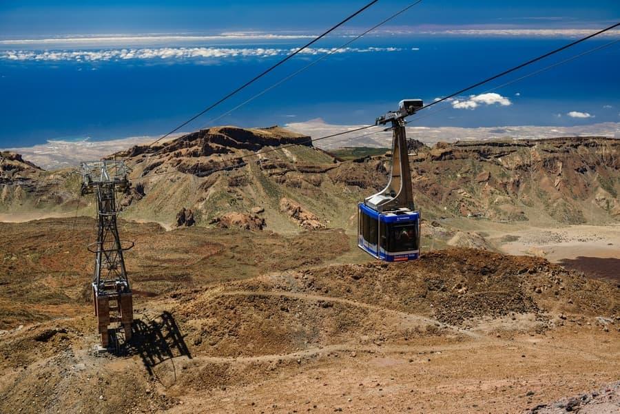 Teide cable car, mount teide