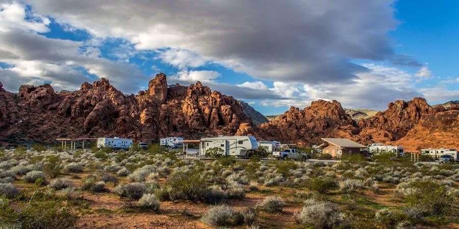 Atlatl Rock Campground, free camping near Las Vegas