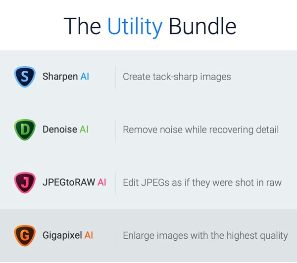 Denoise AI and utility bundle