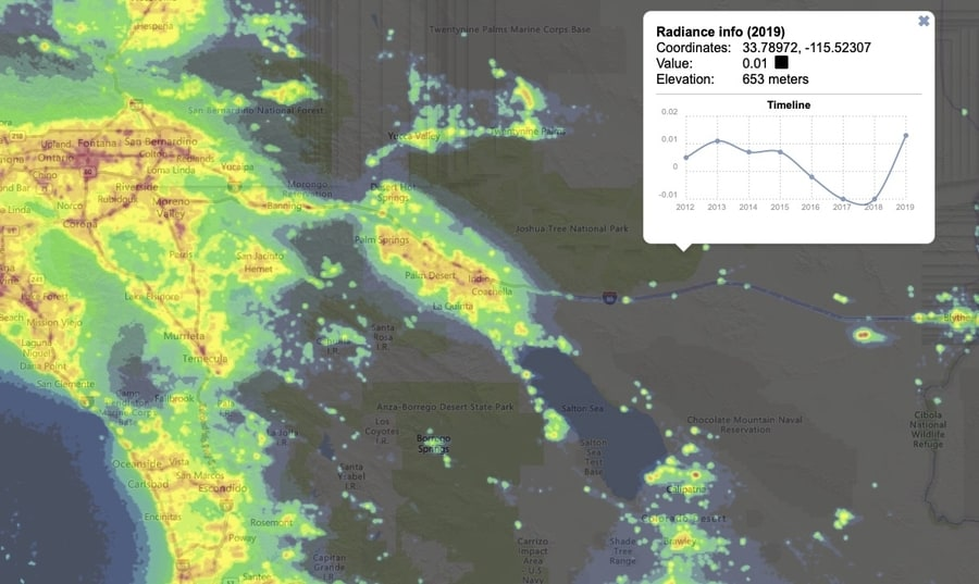 Light Pollution map to see the Milky Way
